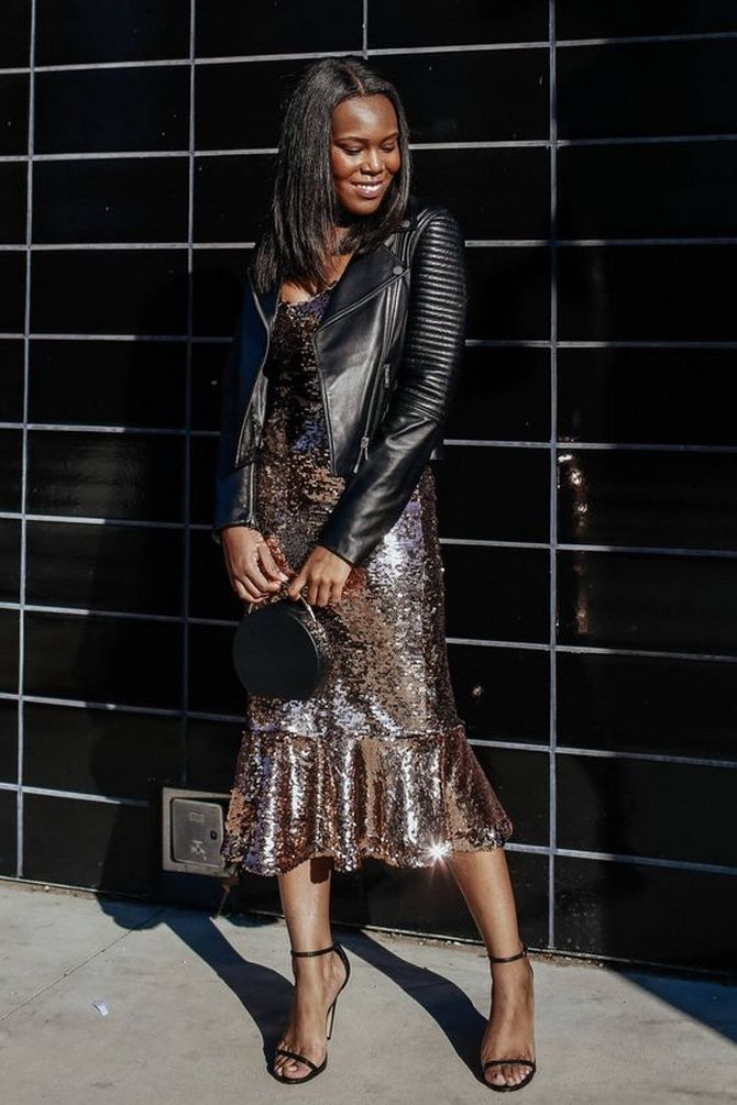 Як носити вечірні сукні взимку: луки з верхнім одягом 24