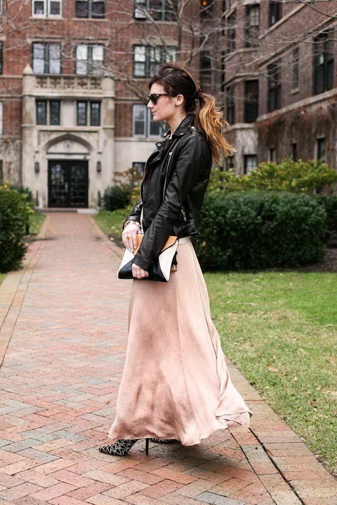 Як носити вечірні сукні взимку: луки з верхнім одягом 25