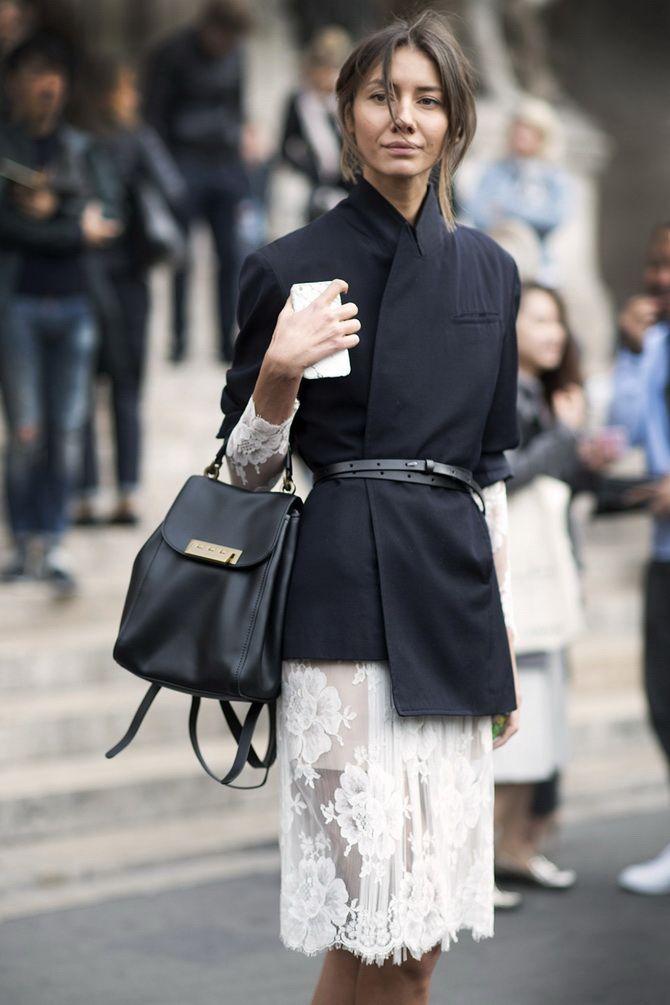 Як носити вечірні сукні взимку: луки з верхнім одягом 18