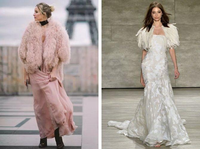 Як носити вечірні сукні взимку: луки з верхнім одягом 4