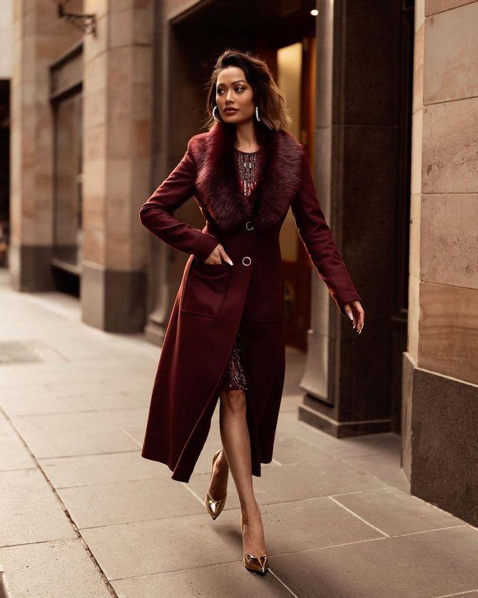 Як носити вечірні сукні взимку: луки з верхнім одягом 7