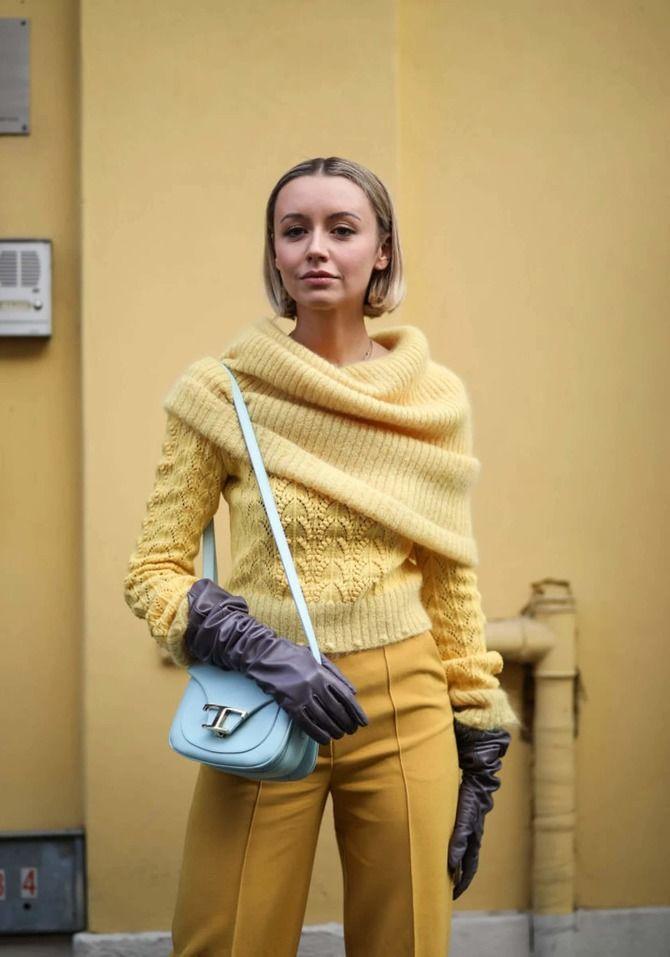 Високі рукавички – відмінне доповнення образу в холодний сезон 26