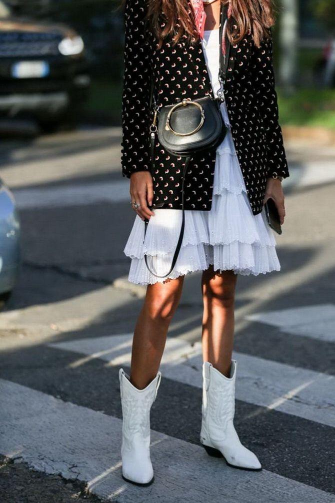 Як носити вечірні сукні взимку: луки з верхнім одягом 26