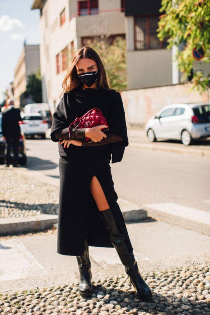 Сукні та чоботи: кращі поєднання на осінь і зиму 10