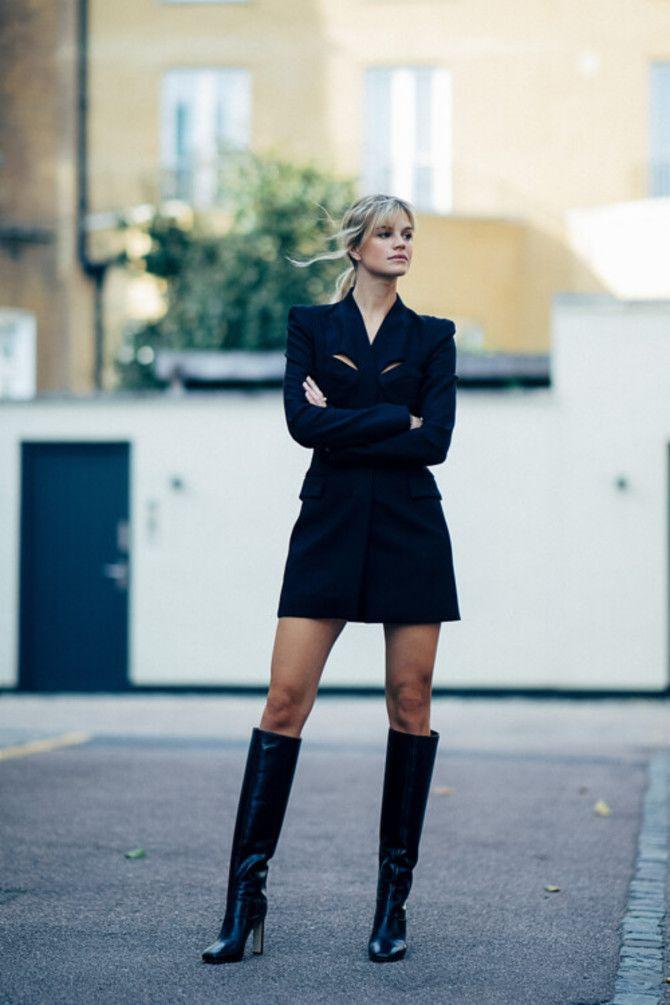 Сукні та чоботи: кращі поєднання на осінь і зиму 11