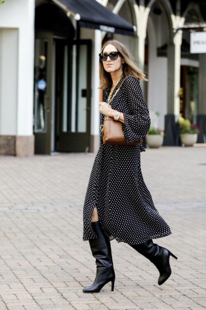 Сукні та чоботи: кращі поєднання на осінь і зиму 13