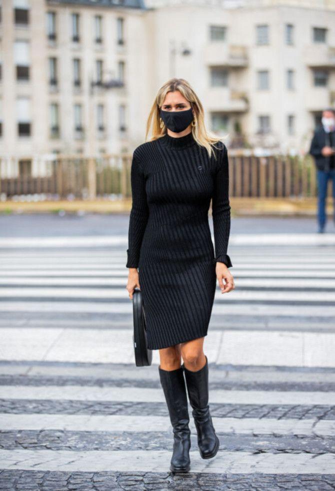 Сукні та чоботи: кращі поєднання на осінь і зиму 15