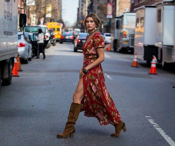 Сукні та чоботи: кращі поєднання на осінь і зиму 19
