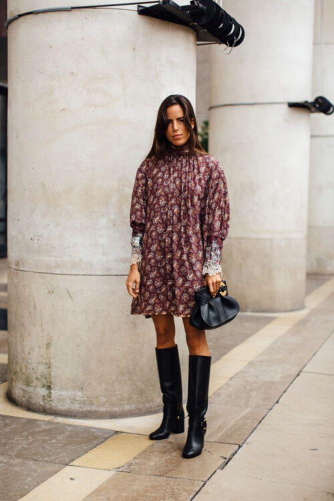 Сукні та чоботи: кращі поєднання на осінь і зиму 2