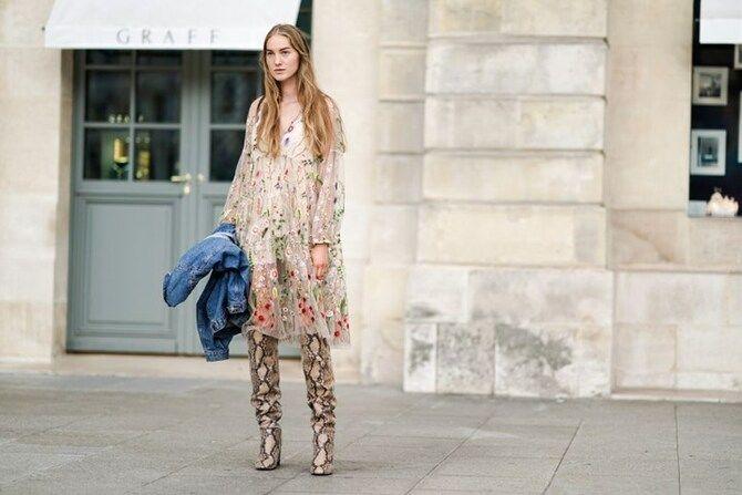 Сукні та чоботи: кращі поєднання на осінь і зиму 22