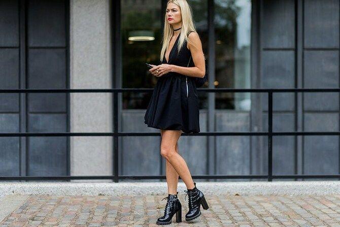 Сукні та чоботи: кращі поєднання на осінь і зиму 25