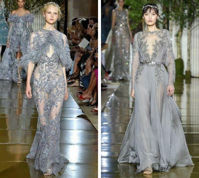 Сірі вечірні сукні на піку популярності – які фасони вибирати 3