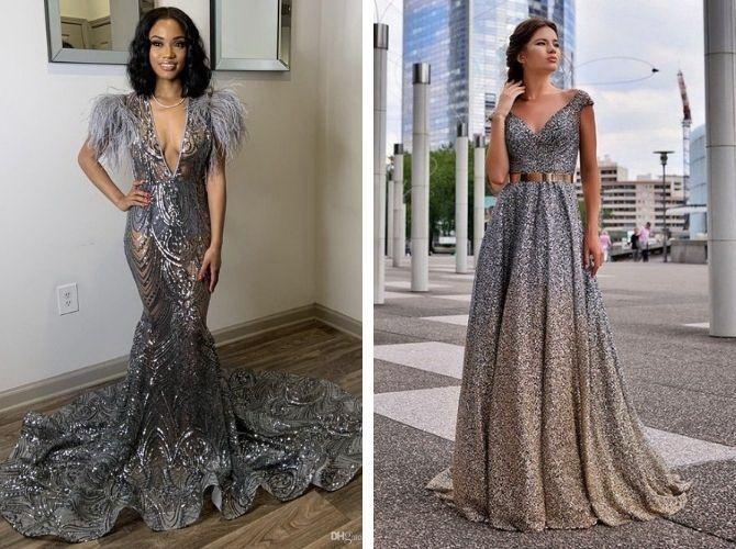 Сірі вечірні сукні на піку популярності – які фасони вибирати 5