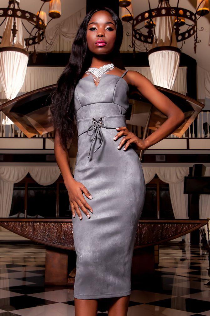 Сірі вечірні сукні на піку популярності – які фасони вибирати 7