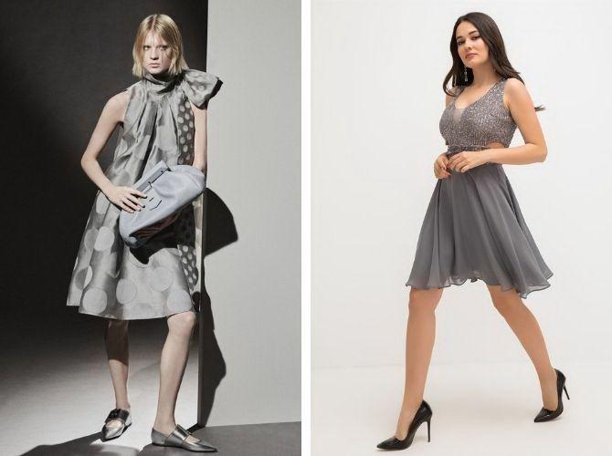 Сірі вечірні сукні на піку популярності – які фасони вибирати 26