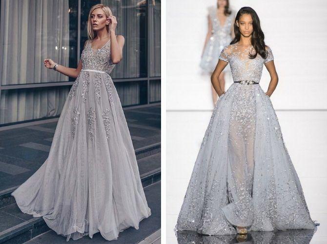 Сірі вечірні сукні на піку популярності – які фасони вибирати 17