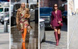 Платья и сапоги: лучшие сочетания на осень и зиму