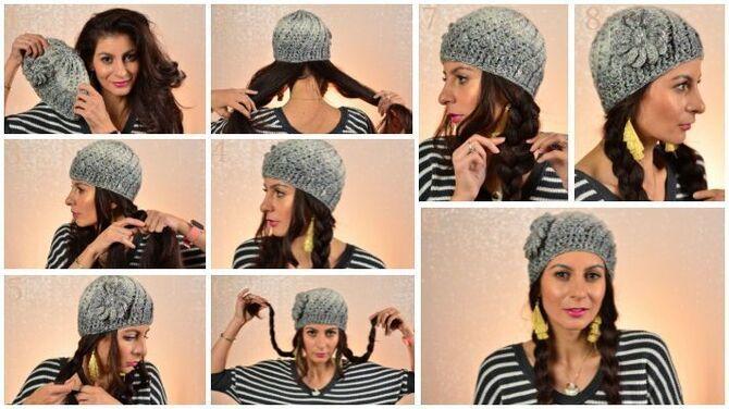 Удачные зимние прически под шапку: советы и идеи как избежать шляпных волос 18