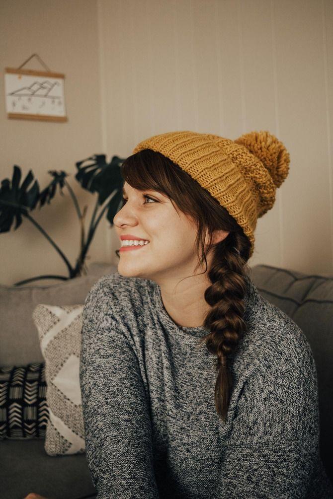 Удачные зимние прически под шапку: советы и идеи как избежать шляпных волос 20