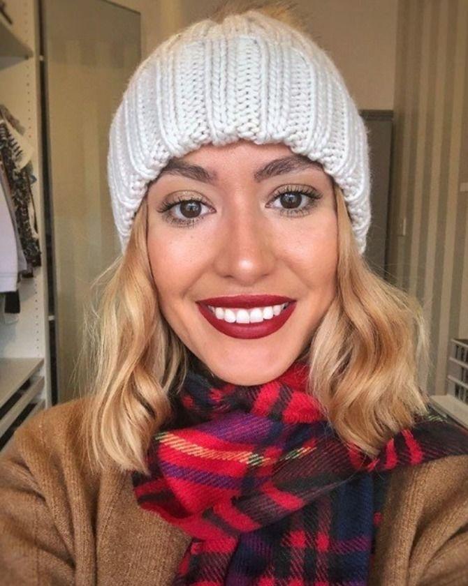 Удачные зимние прически под шапку: советы и идеи как избежать шляпных волос 28