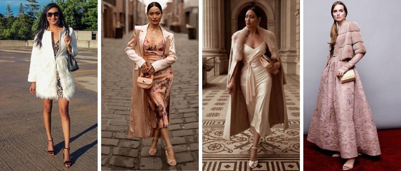 Як носити вечірні сукні взимку: луки з верхнім одягом