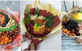 Букет із сухофруктів своїми руками: красива і смачна ідея на 8 березня