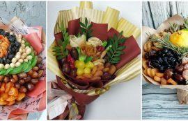 Букет из сухофруктов своими руками: красивая и вкусная идея на 8 марта
