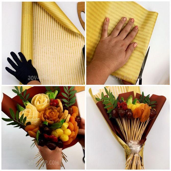 Букет із сухофруктів своїми руками: красива і смачна ідея на 8 березня 12