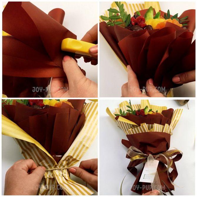 Букет із сухофруктів своїми руками: красива і смачна ідея на 8 березня 13