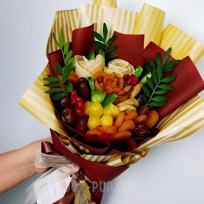 Букет із сухофруктів своїми руками: красива і смачна ідея на 8 березня 14