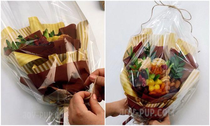 Букет із сухофруктів своїми руками: красива і смачна ідея на 8 березня 15