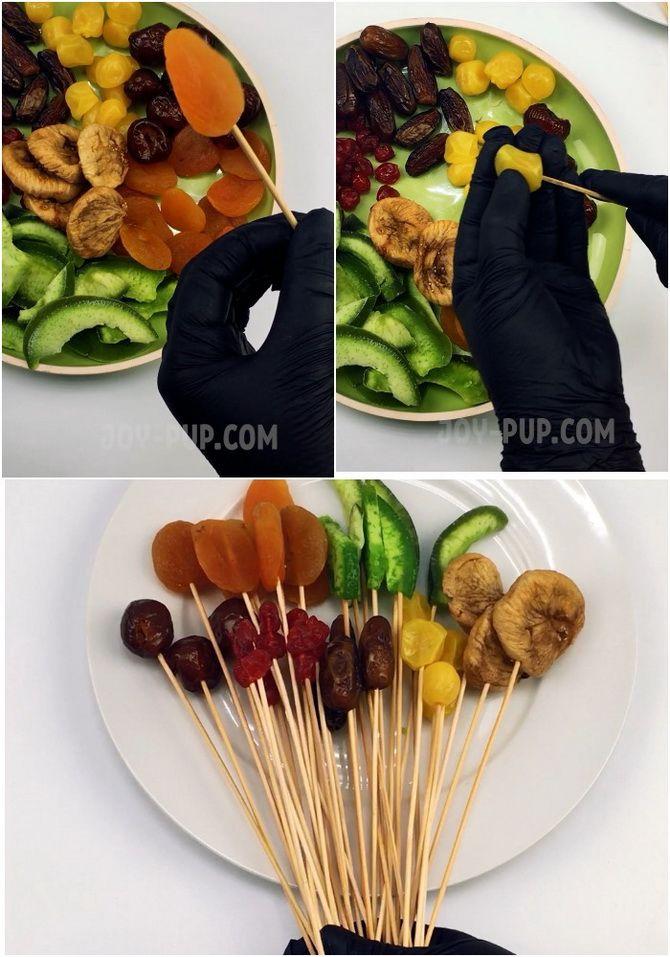 Букет із сухофруктів своїми руками: красива і смачна ідея на 8 березня 4