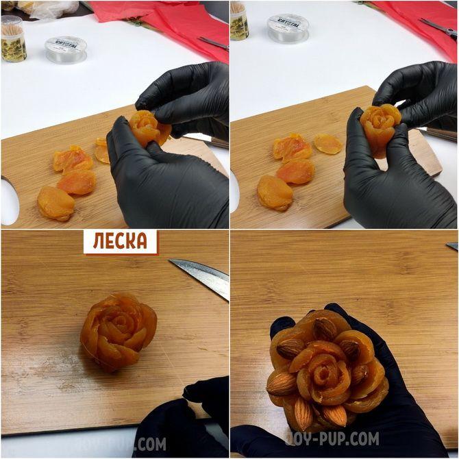 Букет із сухофруктів своїми руками: красива і смачна ідея на 8 березня 6