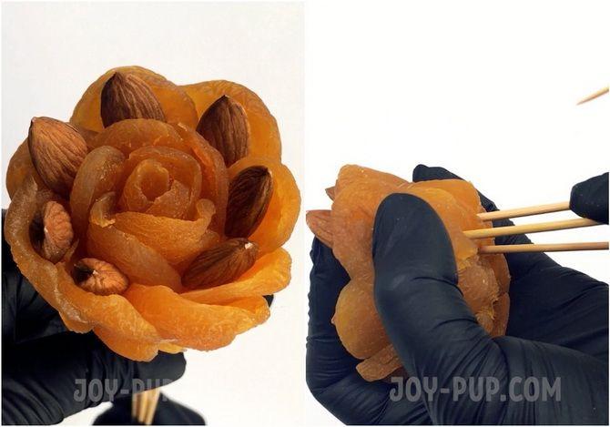 Букет із сухофруктів своїми руками: красива і смачна ідея на 8 березня 7