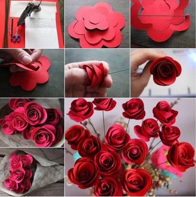 Букет на 8 березня своїми руками: креативні ідеї з паперу, з цукерок, з підручних матеріалів 1