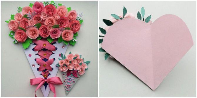 Букет на 8 марта своими руками: креативные идеи из бумаги, из конфет, из подручных материалов 11