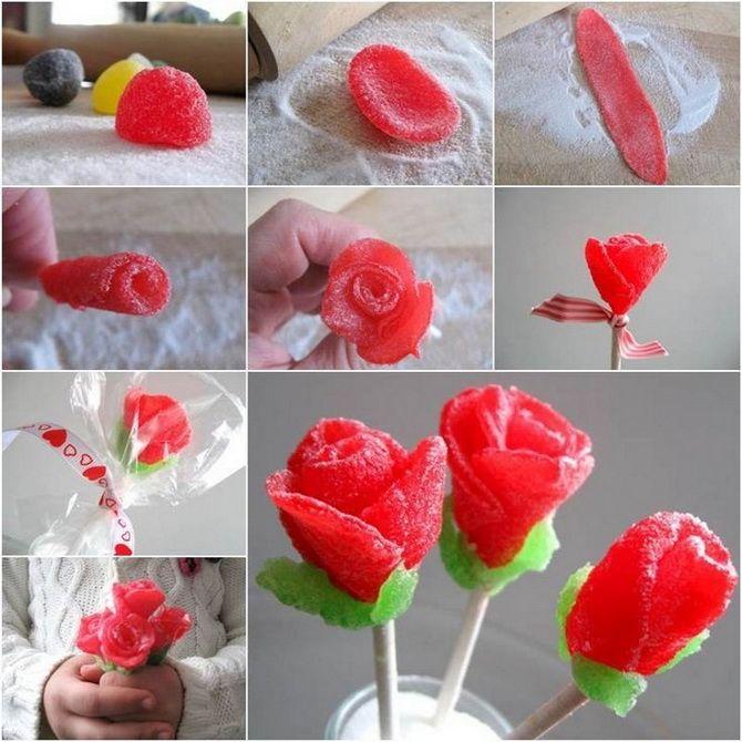 Букет на 8 березня своїми руками: креативні ідеї з паперу, з цукерок, з підручних матеріалів 20
