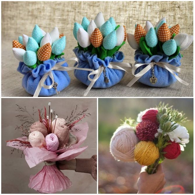 Букет на 8 березня своїми руками: креативні ідеї з паперу, з цукерок, з підручних матеріалів 28