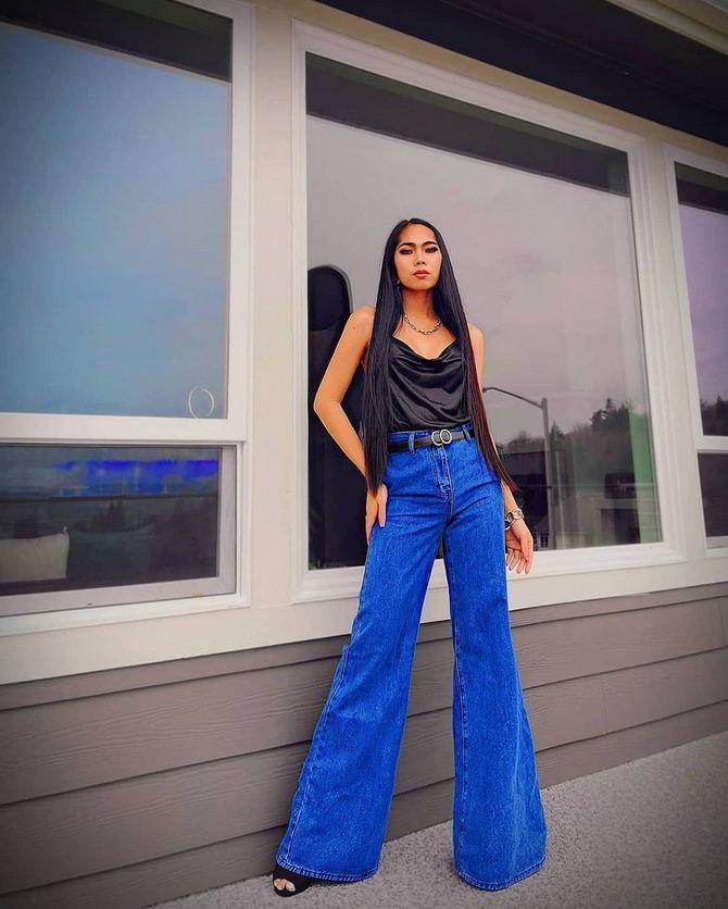 Как выбирать правильные джинсы-клеш: модные советы 12