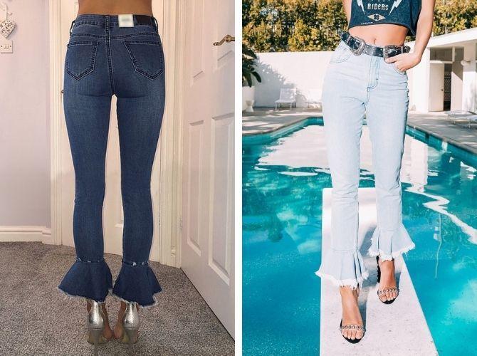 Как выбирать правильные джинсы-клеш: модные советы 13