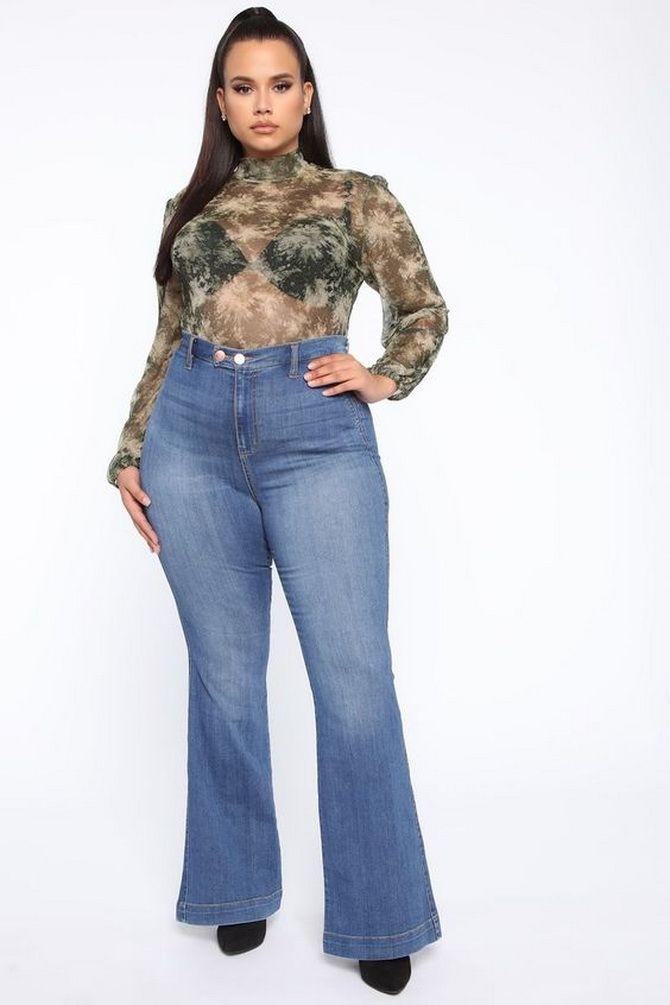 Как выбирать правильные джинсы-клеш: модные советы 28