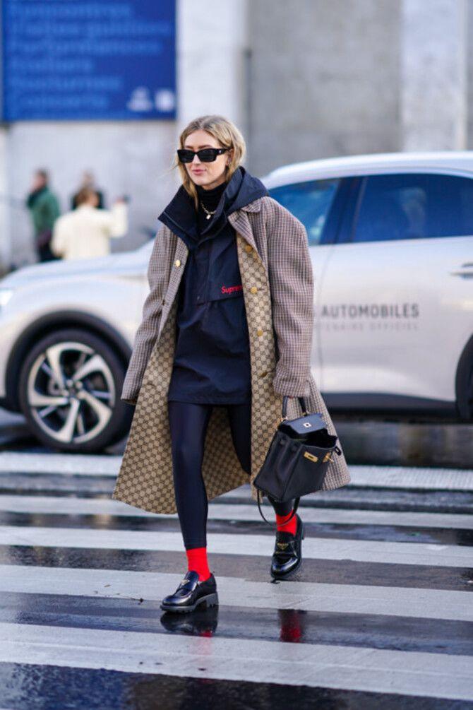 Як носити лосини взимку, щоб не виглядати недолуго? 11