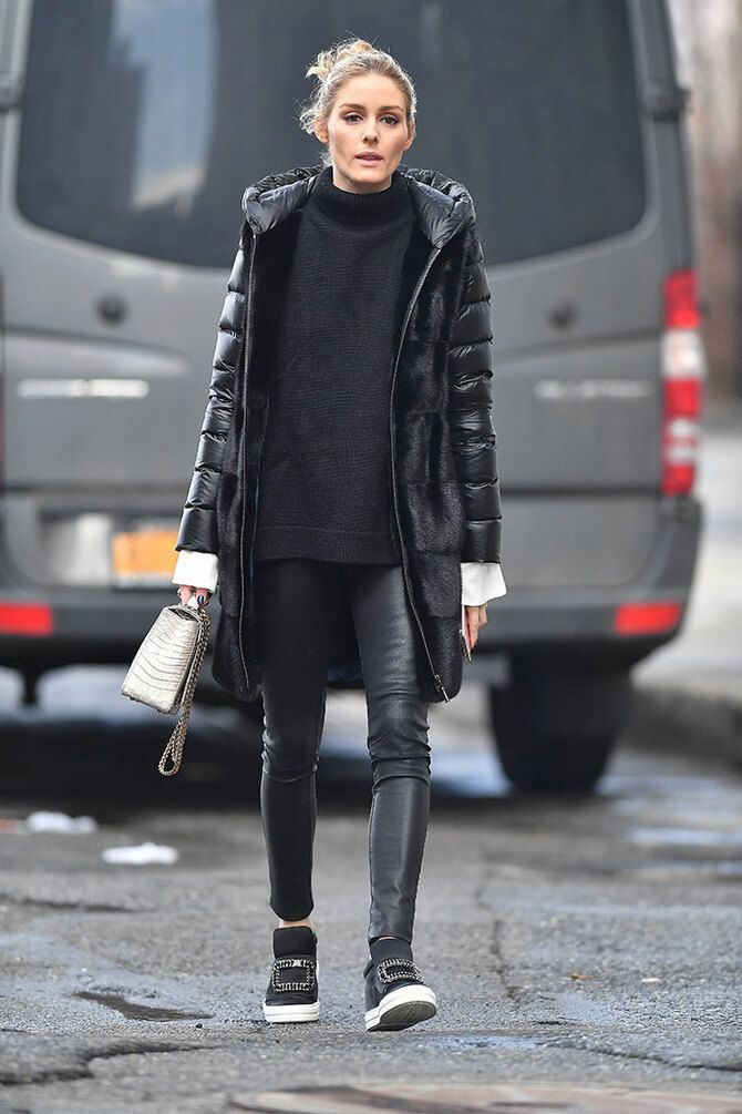 Як носити лосини взимку, щоб не виглядати недолуго? 13