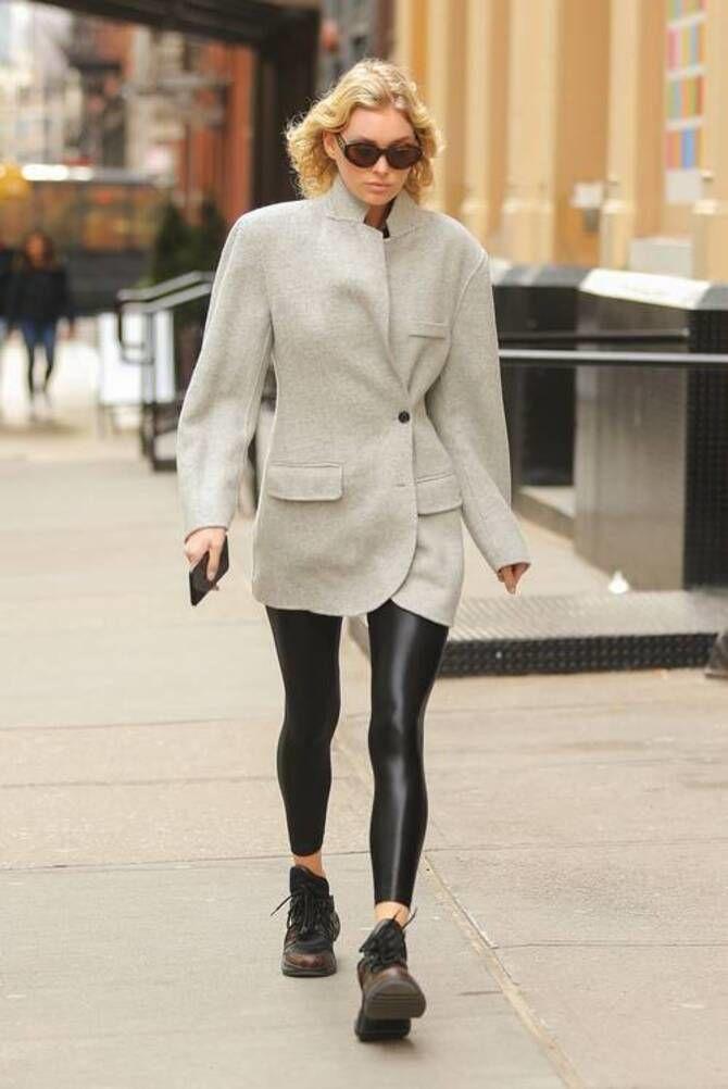 Як носити лосини взимку, щоб не виглядати недолуго? 3