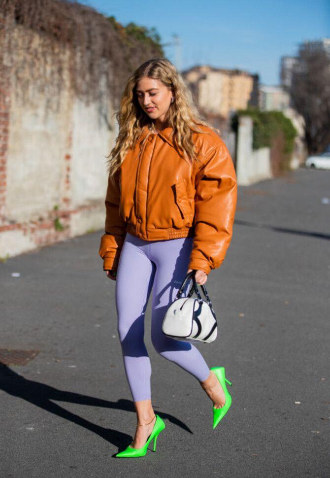 Як носити лосини взимку, щоб не виглядати недолуго? 5