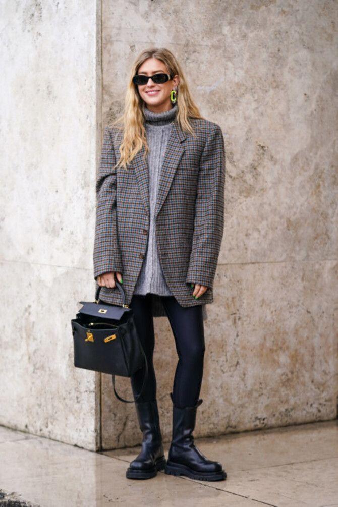 Як носити лосини взимку, щоб не виглядати недолуго? 7