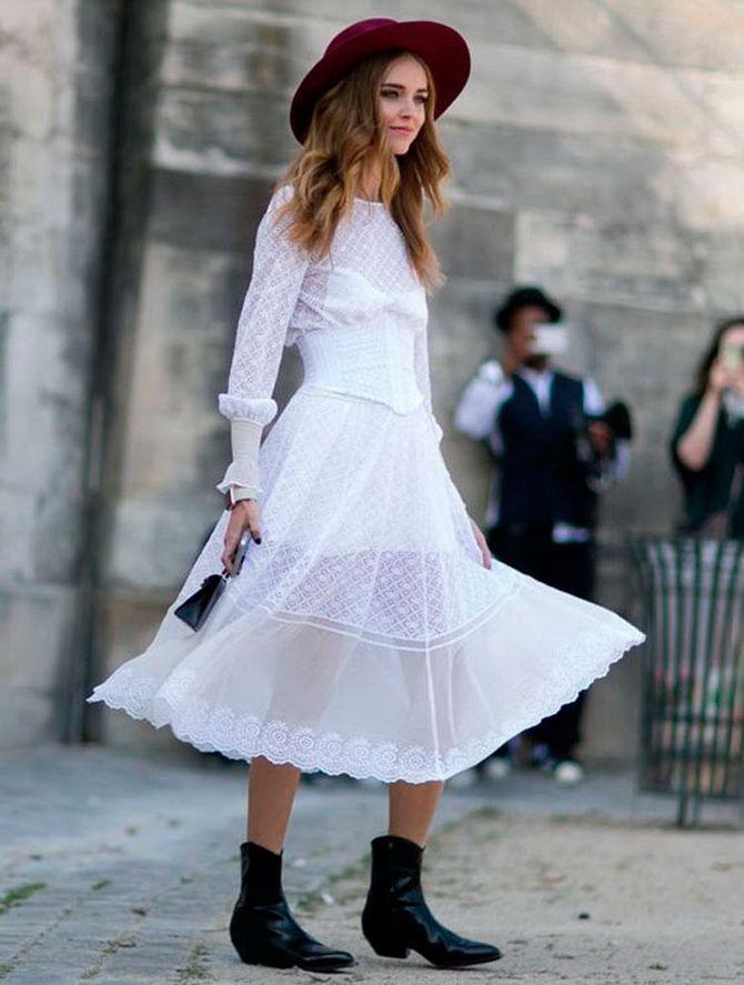 С какой обувью сочетать платья миди? 20