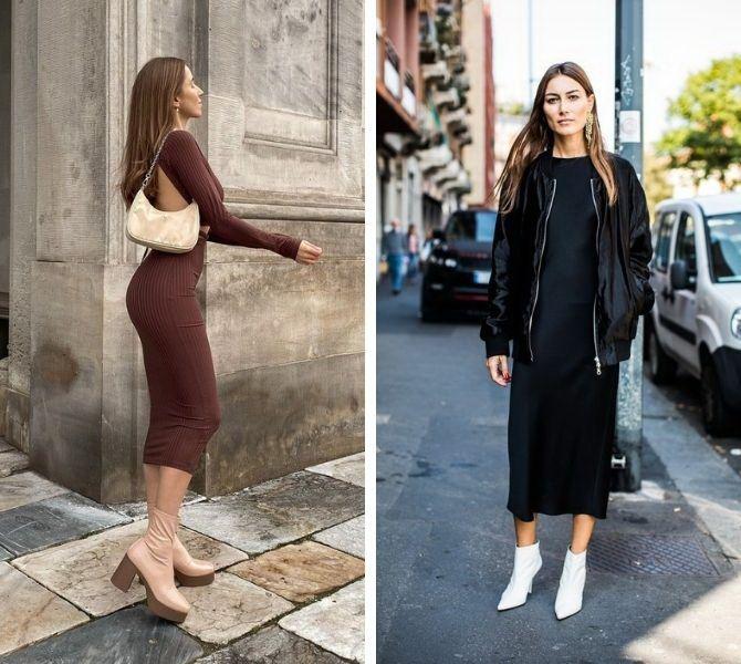 С какой обувью сочетать платья миди? 11