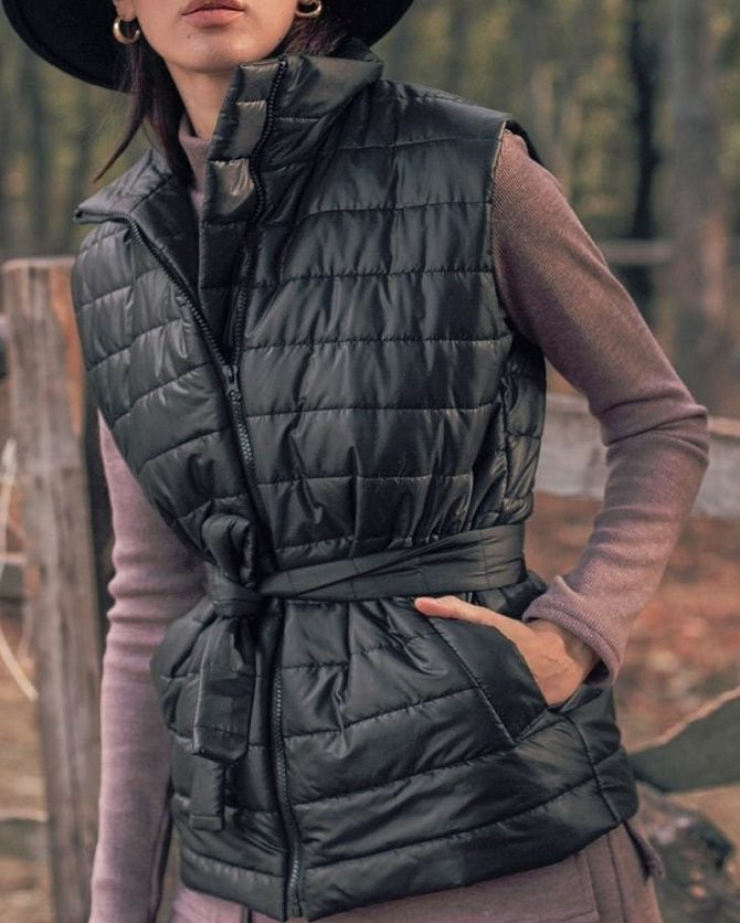 Дутый жилет – модная вещь в гардеробе каждой девушки 2