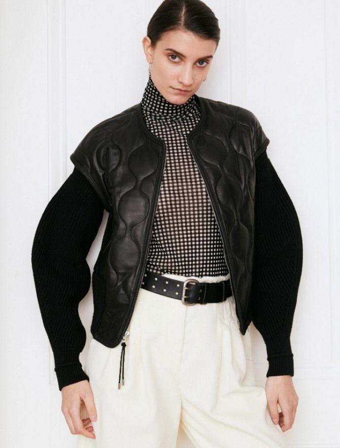 Дутый жилет – модная вещь в гардеробе каждой девушки 10